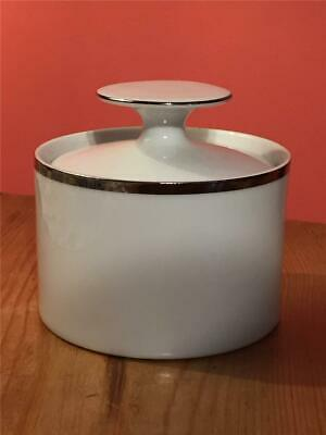 Thomas Germany Platinum / Silver Wide Band Sugar Bowl With Lid • 9.99£