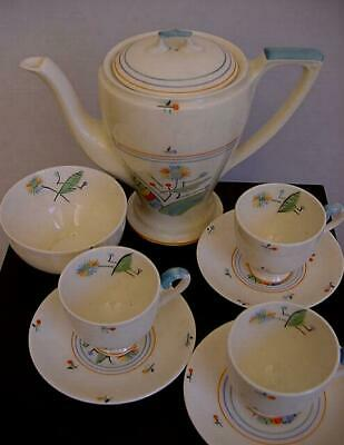 Vintage Art Deco Myott & Sons - GLORIA GLADWIN - Part Coffee / Tea Set - 1930s • 9.99£