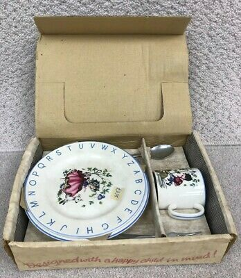 Staffordshire England - Lord Nelson Pottery - Nursery Set - Plate, Bowl, Cutlery • 9.99£