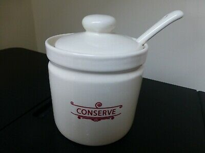 NEW  Covered Conserve Dish With Spoon • 3.50£
