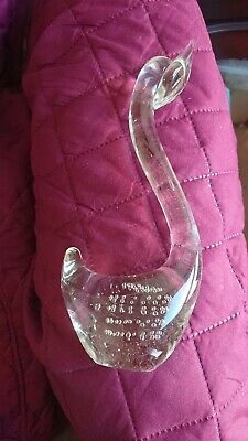 Crystal Glass Swan Paperweight Ornament • 6£