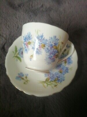 Adderley Bone China Cornflowers Blue Tea Cup And Saucer  • 16£