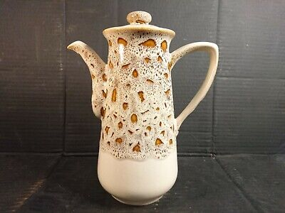 "Fosters Pottery Cornwall Vintage Light Honeycomb Coffee Pot 10"" High • 22.99£"