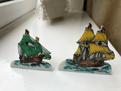 Wade  Snippet  No.1  Mayflower  And No.2  Santa Maria  Porcelain Ships   • 50£