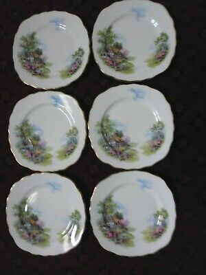 Vintage Royal Vale Bone China Country Cottage Garden Plate X 6 • 14.99£