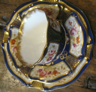 Hammersley Antique  Hand Painted Trio & Teaplate.Cobalt Blue , Richly Gilded  • 45£