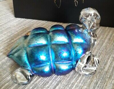 John Ditchfield Glass Tortoise Paperweight Has Been Signed/ Glasform Label  • 145£