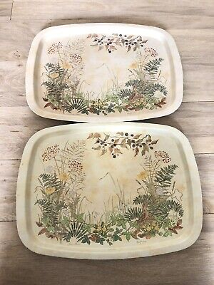 St Michael Vintage Marks And Spencers Hedgerows Metal Trays  • 10£