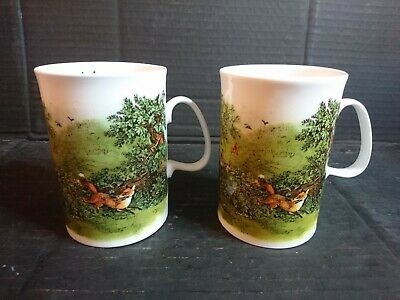 PAIR OF DUNOON  The Escape  CHINA MUGS • 12£