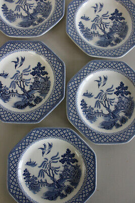 5 J & G Meakin Willow Plates • 25£