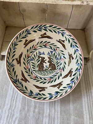 Bell Pottery Spongeware Large Salad Bowl • 65£