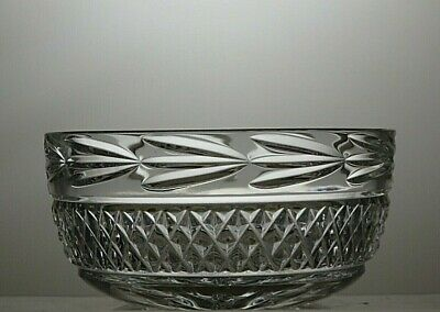 GALWAY CRYSTAL  LEAH  CUT GLASS BOWL- SIGNED - 6  Across • 49.99£