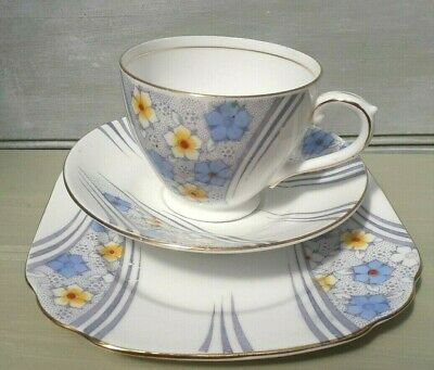 Vintage Bell China Deco Trio Cup. Saucer And Tea Plate • 7.99£