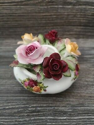 ROYAL ALBERT 'Old Country Roses' Candle Flower Pot - Previously Loved • 2.20£