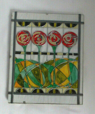 Art Deco Style Stained Glass Panel/ Suncatcher • 18.50£