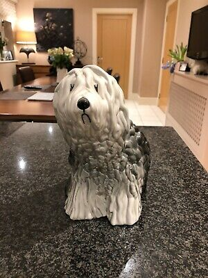 Beswick Vintage/Antique Old English Sheepdog Ornament. Seated Sheepdog Model 453 • 22£