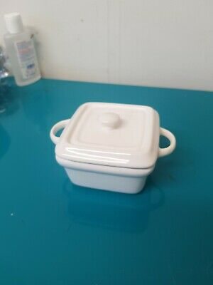 Denby China White Sugar Bowl With Lid • 2£