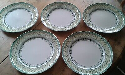 4 X Villeroy & Boch French Garden Orange Dinner Plates  + 1 With A Chip • 40£