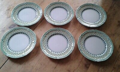 Villeroy & Boch French Garden Orange Dessert 8  Plates X 6 • 30£