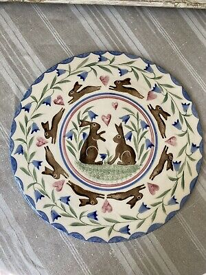 Bell Pottery Large Flat Plate/ Cake Plate/Trivet • 38£