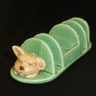Vintage, SYLVAC, Pottery, Dogs Head Toast Rack • 17£