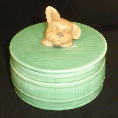 Vintage, SYLVAC, Pottery, Dogs Head, Butter Dish, Model 1818 • 15£