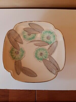 Grays Pottery Hand Painted Cake Stand • 9£