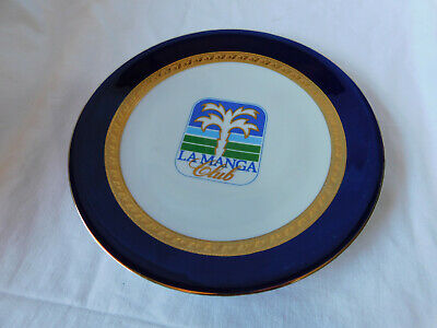 La Manga Club Plate 25 Cm With Hanging Disc Attached • 3£