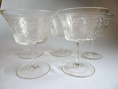 Set Of Five Pall Mall Lady Hamilton Small Champagne/cocktail Glasses 9.5cm • 35£