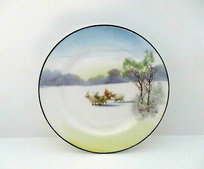 Very Rare Royal Doulton Miniature Plate - Snowflake - Goats In Snow H117 - Mint! • 125£