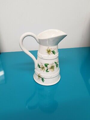 Vintage LORD NELSON POTTERY Wild White Rose Small Country Style Milk Cream Jug • 1£