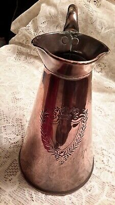 Vintage Copper Jug.  Makers Marks On The Base. Solid Copper. 22.5 Cm Tall.   Vgc • 20£