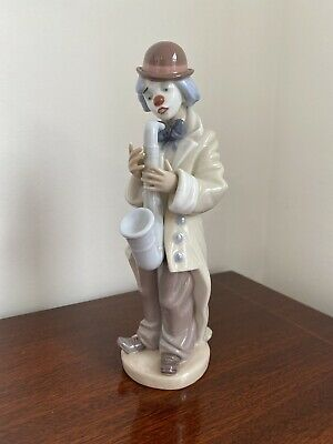 Beautiful Vintage Large Lladro Figure - Sad Sax Clown With Saxophone #5471 • 9.20£