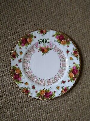 Royal Albert Old Country Roses Pattern 1980 Calendar Plate –first Edition.  • 6£