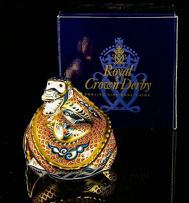 Royal Crown Derby -dragon Of Happiness- Ltd Ed Paperweight Figure & Gold Stopper • 119.99£