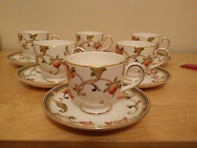 Brand New Wedgwood OBERON Coffee Cup & Saucer X 6 SECOND QUALITY  • 45£