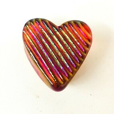 Vintage Robert Held Art Glass Heart Paperweight Red Signed • 24.08£