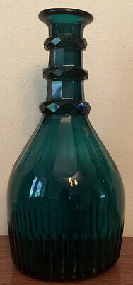 Vintage  Green Glass Decanter💐 Used No Stopper • 2.20£