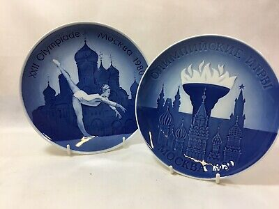 Olympic Russian 1980 Vintage Royal Copenhagen / Bing & Grondahl Collector Plates • 9.99£