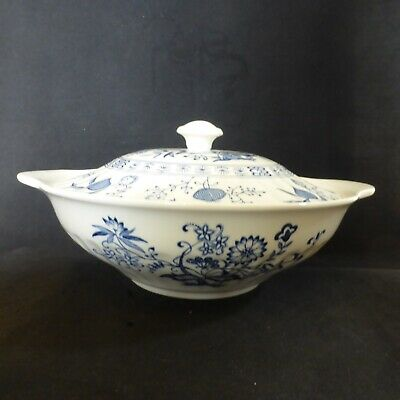 Vintage, Meakin, Blue Nordic, Vegetable Dish, Casserole Dish And Lid, *1 • 25£