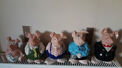 Wade Full Set Natwest Pigs, Excellent Condition All With Original Stoppers • 149.50£