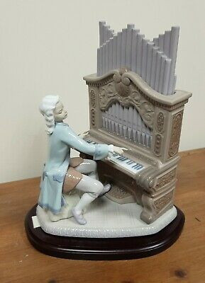 Lladro #1801 Young Bach Playing The Organ Ltd Edt Retired VGC Boxed & COA • 300£