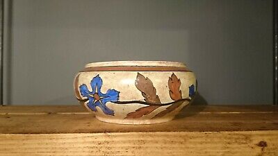 Vintage 1920s Clew & Co Tunstall Chameleon Ware Handpainted Floral Bowl Art Deco • 12.99£