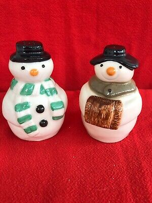 Wade Snowmen Salt And Pepper Cruet Set • 10£