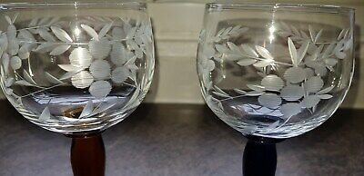 Excellent Pair Of Bohemia Crystal Wine/hock Glasses  7 .2  • 25£