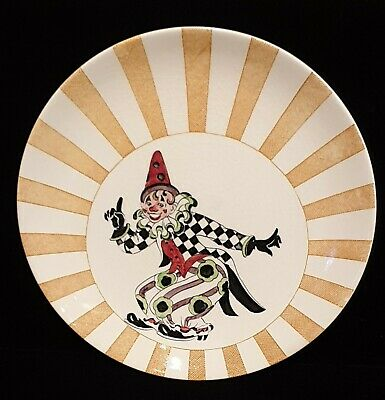 Vintage 1950's Mason's  Handpainted  Circusland  Plate - Pointing Clown  • 2.20£