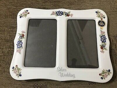 Royal Tara Ireland Porcelain Harmony Pattern Silver Wedding Photo Frame  • 10£