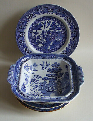 Mixed Job Lot Vintage And Antique Willow Pattern Blue & White Transfer Ware • 6.99£