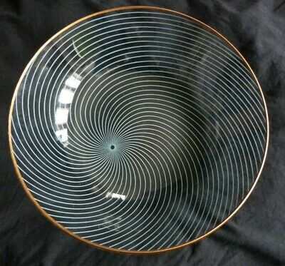 Vintage Chance Glass Atomic Swirl Bowl • 14£