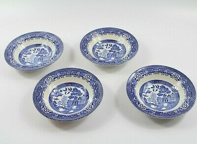 Vintage WILLOW Woods Ware England Set Of 4 Bowls • 15.99£